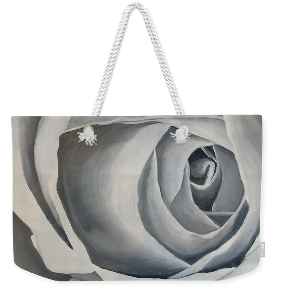 Weekender Tote Bag featuring the painting White Rose by Kevin Daly