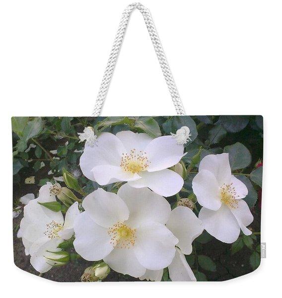 White Roses Bloom Weekender Tote Bag
