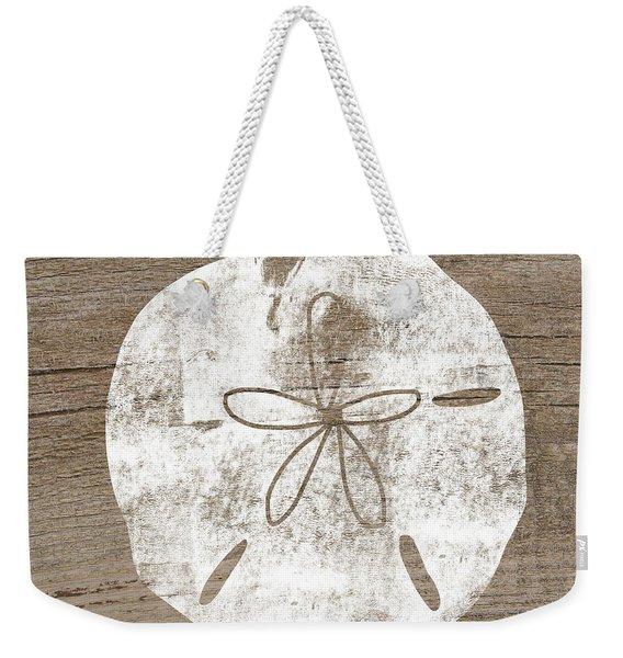 White Sand Dollar- Art By Linda Woods Weekender Tote Bag
