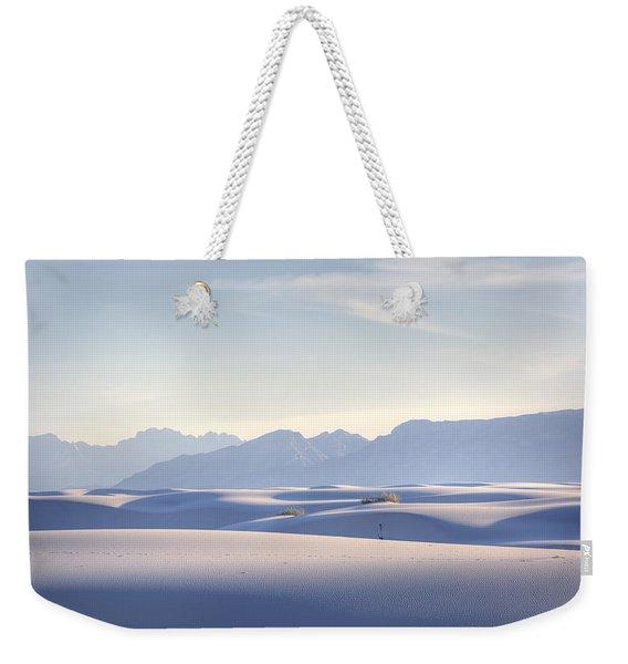 White Sands Blue Sky Weekender Tote Bag