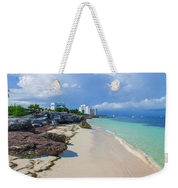 White Sandy Beach Of Cancun Weekender Tote Bag