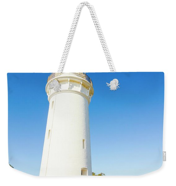 White Seaside Tower Weekender Tote Bag
