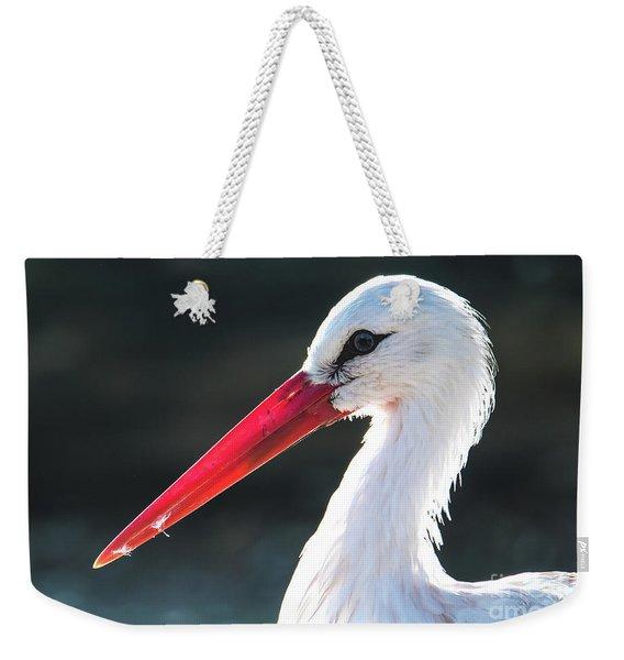 White Stork Weekender Tote Bag