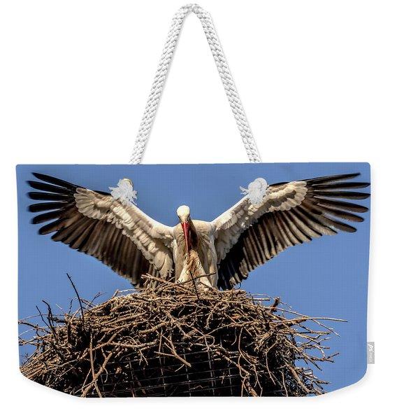 White Storks Of Fagagna 7 Weekender Tote Bag