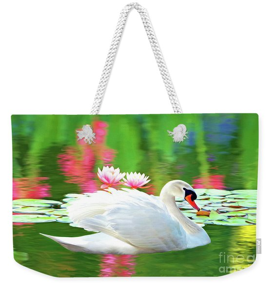 White Swan Weekender Tote Bag