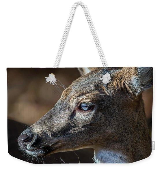 White Tailed Deer Facial Profile Closeup Portrait Weekender Tote Bag
