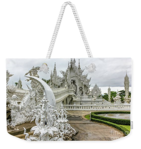 White Temple Thailand Weekender Tote Bag