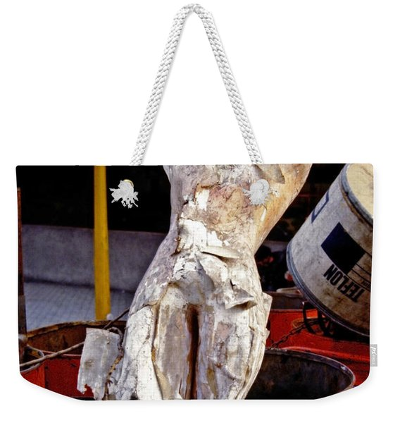 Weekender Tote Bag featuring the photograph White Trash by Skip Hunt