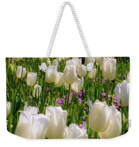 White Tulips In Bloom Weekender Tote Bag
