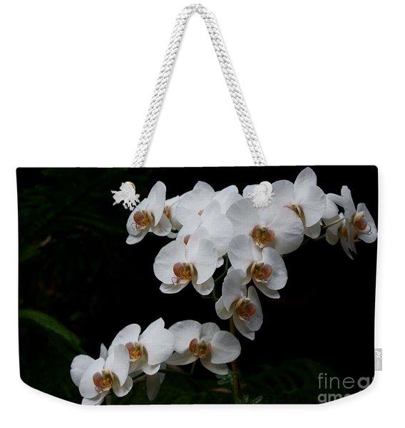 White Velvet Weekender Tote Bag