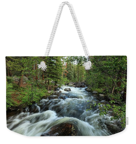 White Water Stream Weekender Tote Bag