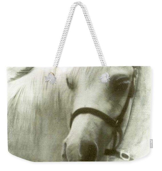 White Welsh Pony Weekender Tote Bag