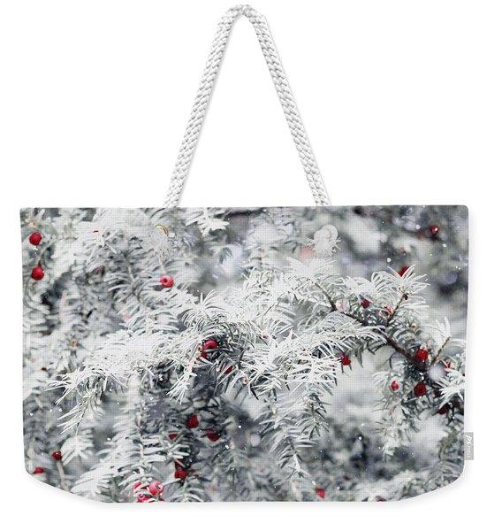 White Yew Weekender Tote Bag