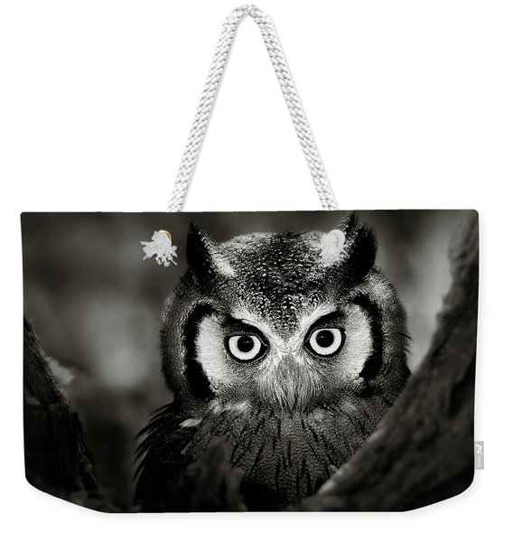Whitefaced Owl Weekender Tote Bag
