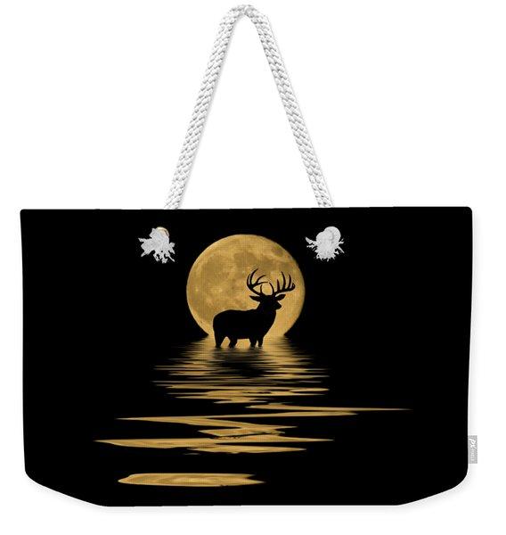 Whitetail Deer In The Moonlight Weekender Tote Bag