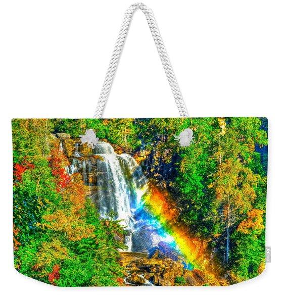 Whitewater Rainbow Weekender Tote Bag