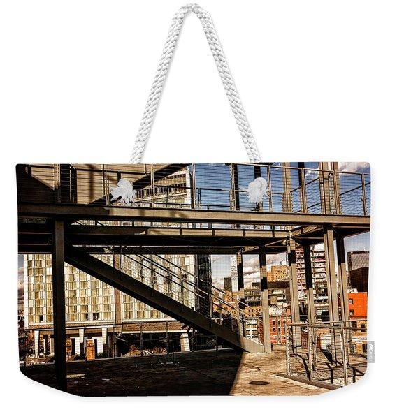 Whitney Terrace Grid Weekender Tote Bag