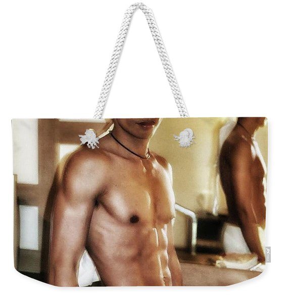 Weekender Tote Bag featuring the photograph Who Is That Masked Man? It's Mr by Mr Photojimsf