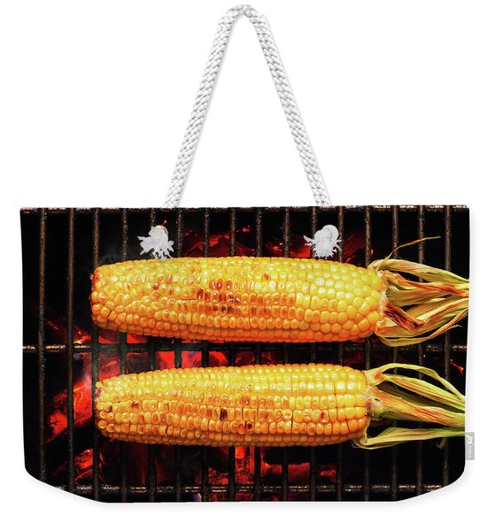 Whole Corn On Grill Weekender Tote Bag