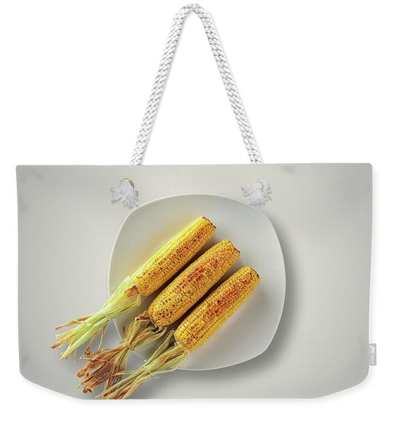 Whole Grilled Corn On A Plate Weekender Tote Bag
