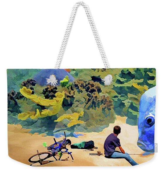Who's Fishing? Weekender Tote Bag