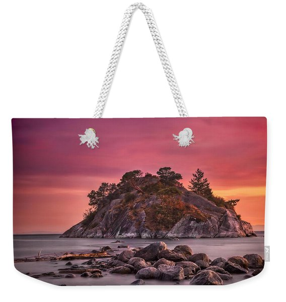 Whytecliff Island Sunset Weekender Tote Bag