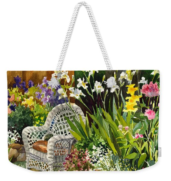 Wicker Chair Weekender Tote Bag