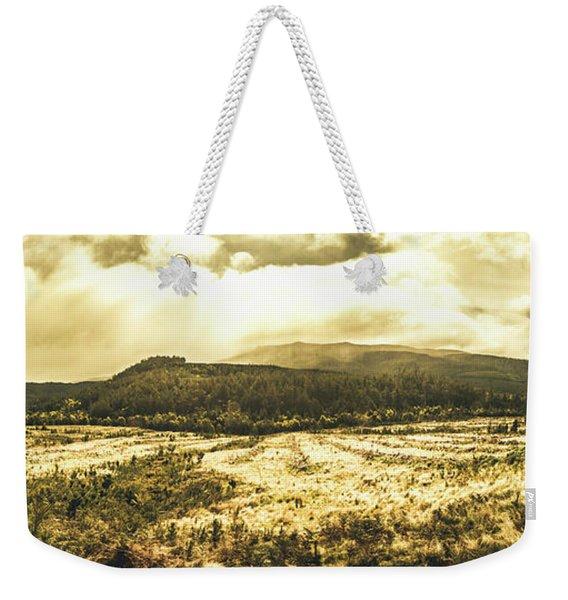 Wide Open Tasmania Countryside Weekender Tote Bag