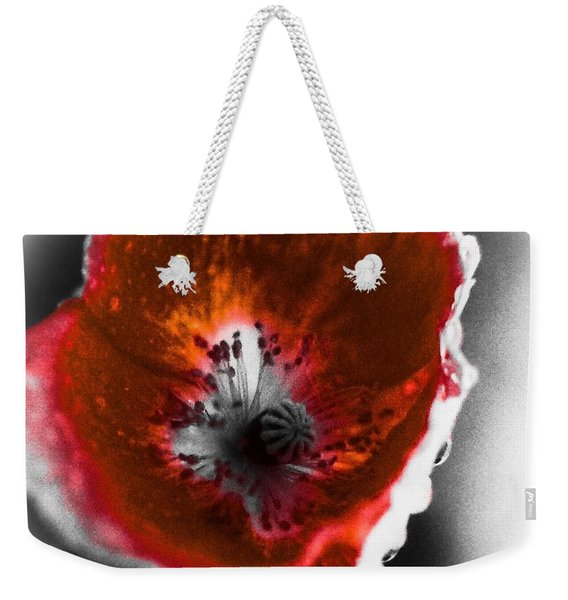 Wild Beauty In Red And White Weekender Tote Bag