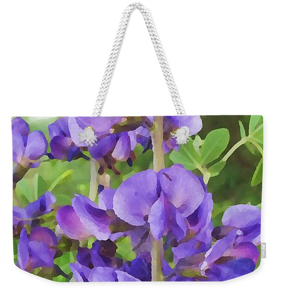 Wild Blue False Indigo Weekender Tote Bag