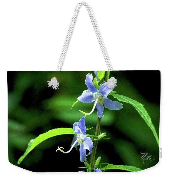 Wild Blue Flowers Weekender Tote Bag