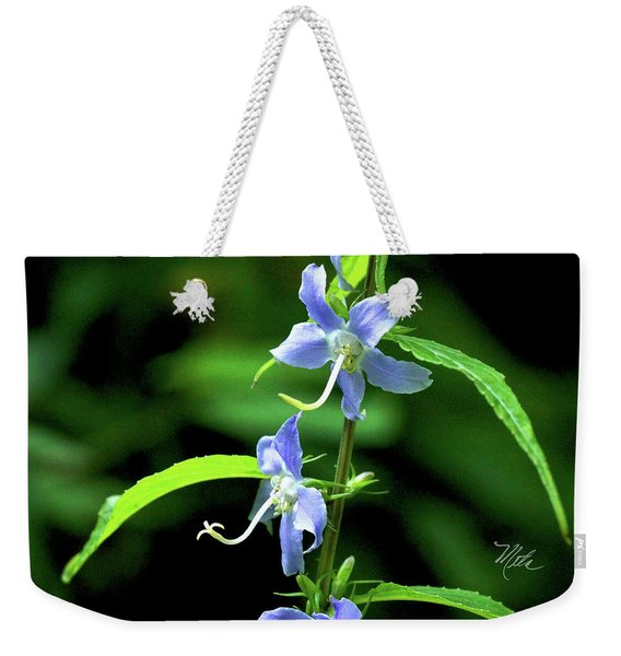 Wild Blue Flowers Weekender Tote Bag