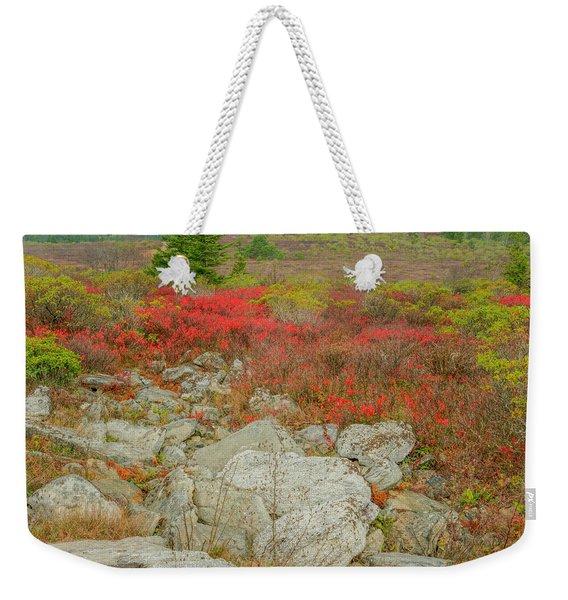 Wild Blueberries Weekender Tote Bag