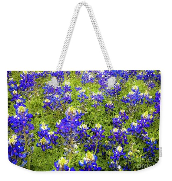 Wild Bluebonnets Blooming Weekender Tote Bag