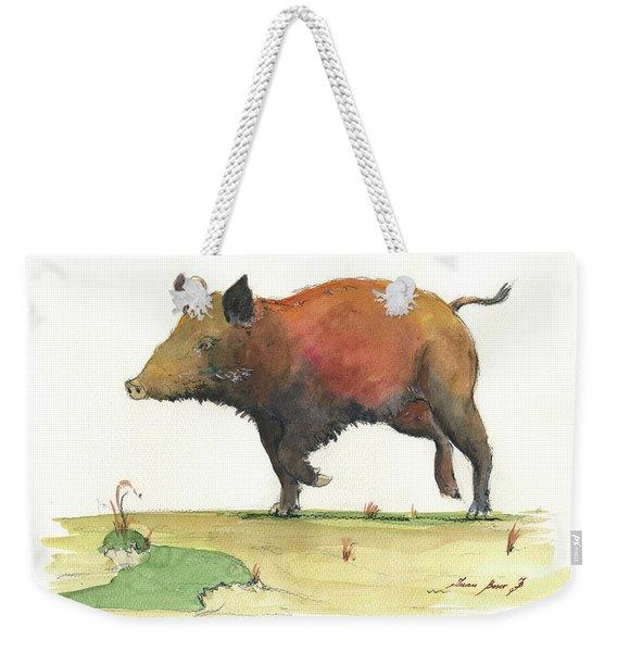Wild Boar Delgadin Weekender Tote Bag