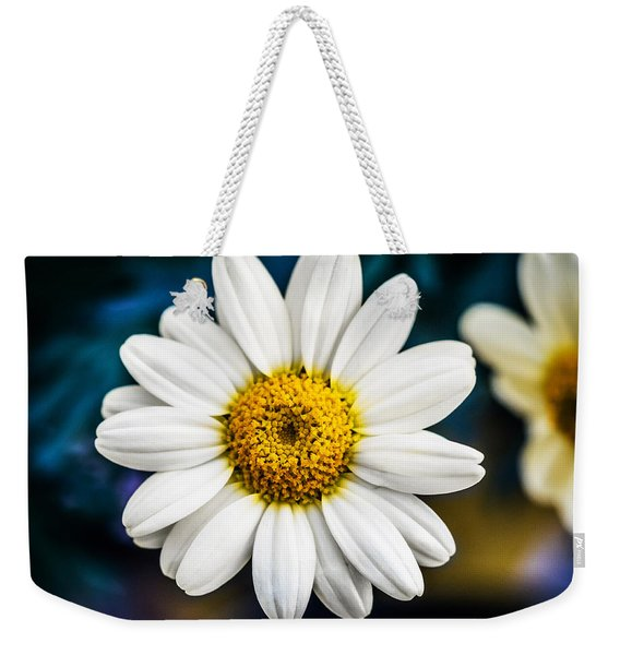 Weekender Tote Bag featuring the photograph Wild Daisy by Nick Bywater