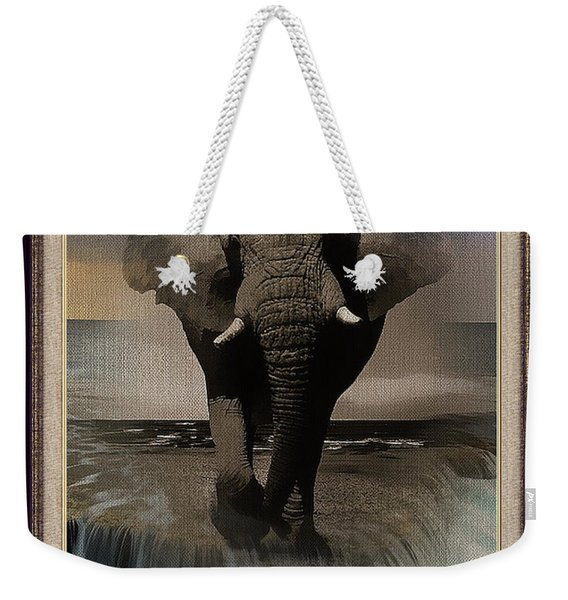 Wild Elephant Montage Weekender Tote Bag