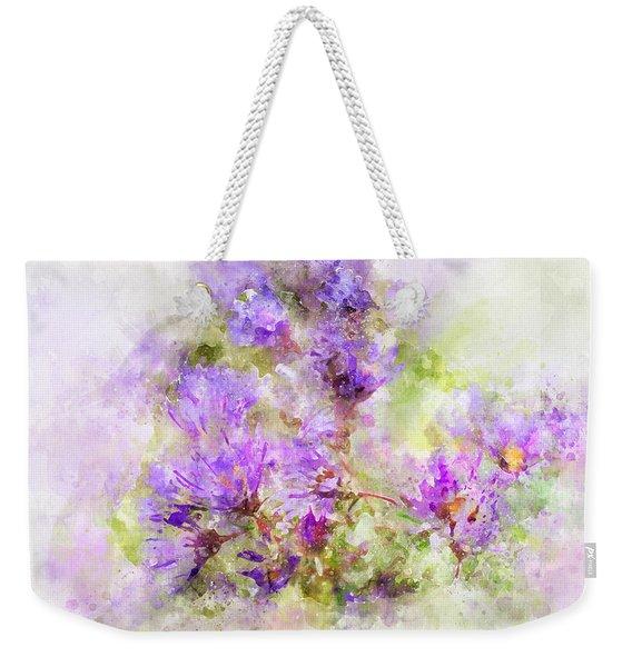 Wild Flowers In The Fall Watercolor Weekender Tote Bag