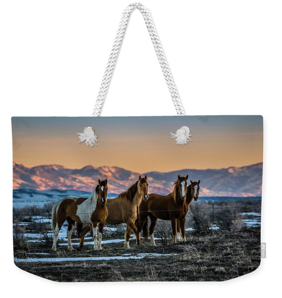Wild Horse Group Weekender Tote Bag