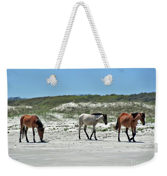 Wild Horses On The Beach Weekender Tote Bag