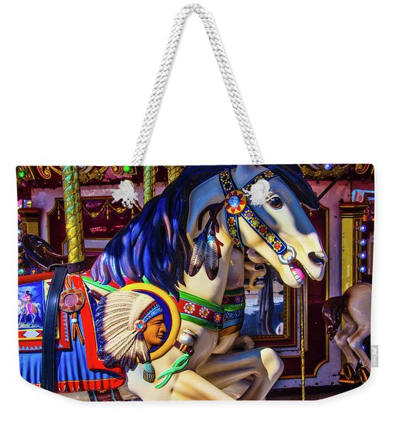 Wild Indian Horse Weekender Tote Bag