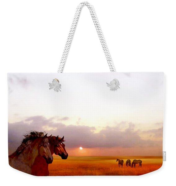 Wild Moorland Ponies Weekender Tote Bag