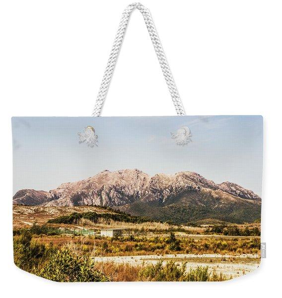 Wild Mountain Range Weekender Tote Bag