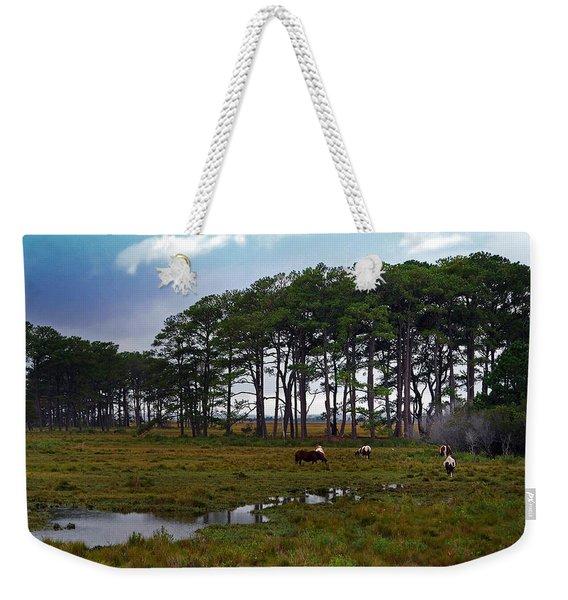 Wild Ponies Of Assateague Weekender Tote Bag