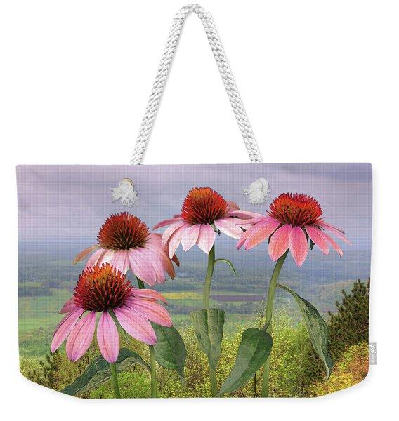 Wild Purple Coneflowers Weekender Tote Bag