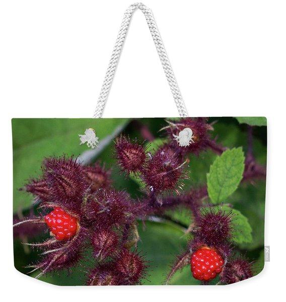 Wild Raspberries Weekender Tote Bag