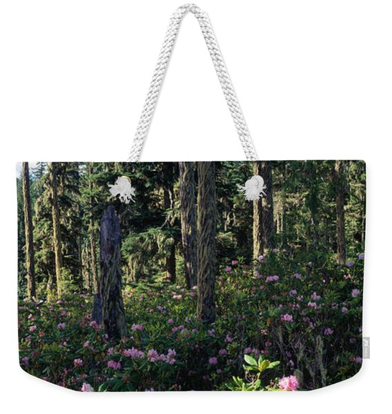Wild Rhododendrons Mount Hood National Weekender Tote Bag