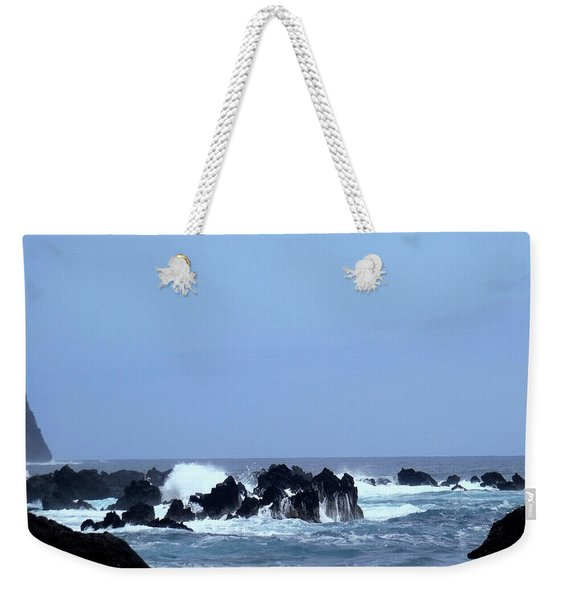 Wild Sea In Madeira Weekender Tote Bag