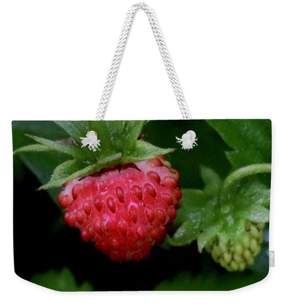Wild Strawberry Weekender Tote Bag