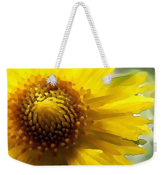 Wild Sunflower Up Close Weekender Tote Bag